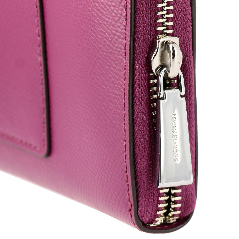 Michael Michael Kors continental leather wallet burgundy 4