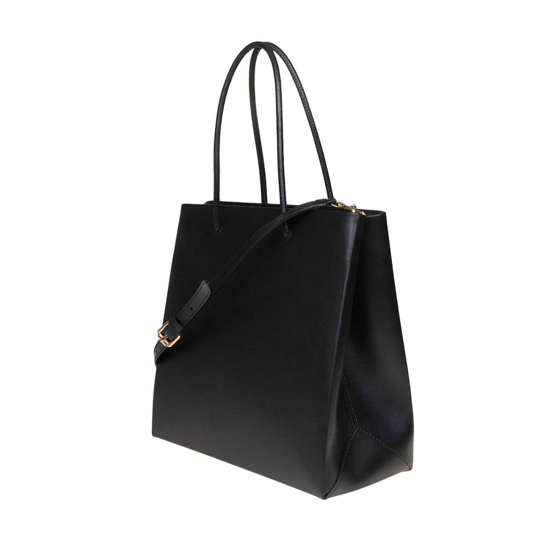 Sac Cabas en cuir Moschino Couture avec maxi logo imprimé noir 3