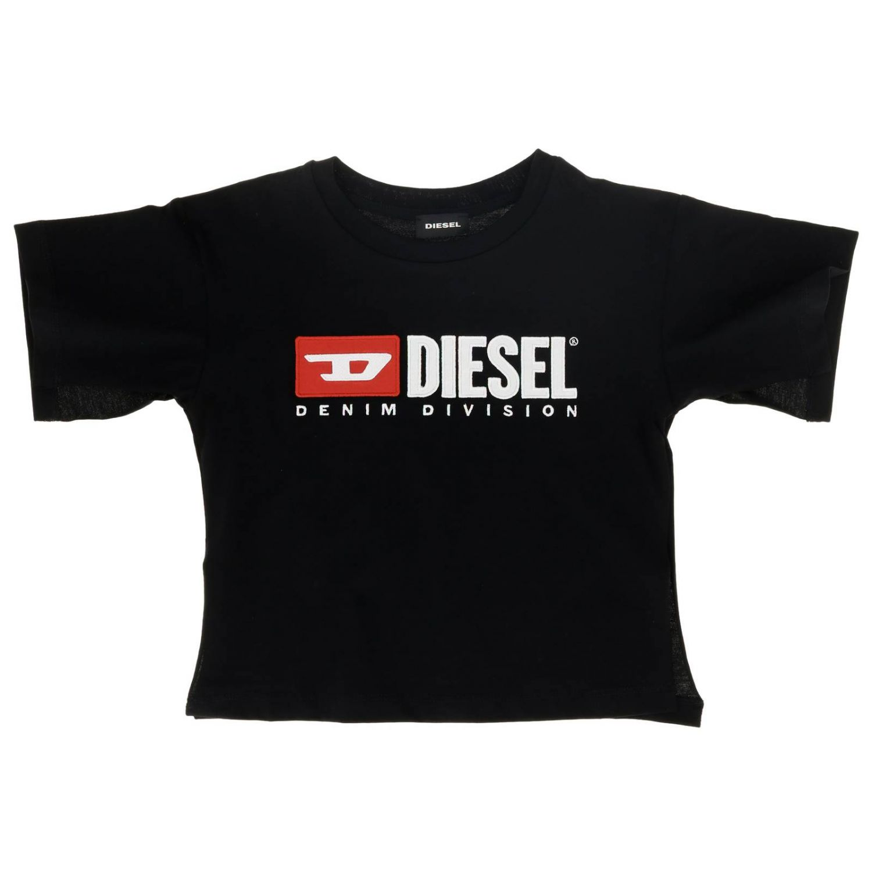T-shirt Diesel: T-shirt Diesel a maniche corte stampata fuxia 1