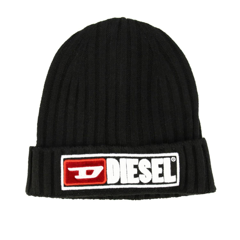 Cappello bambino Diesel: Cappello Diesel a coste con logo nero 1
