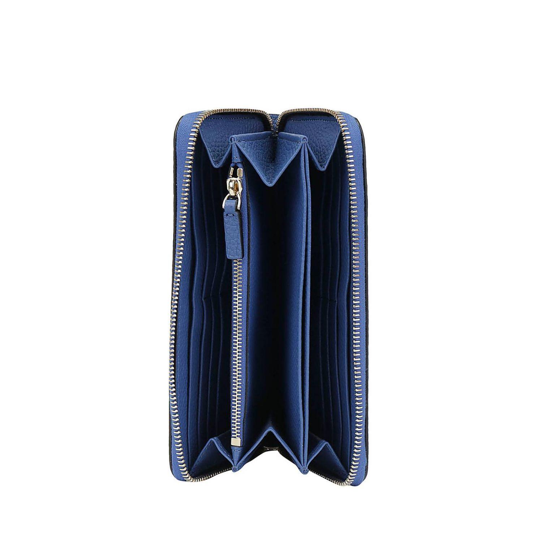 Portafoglio Rockstud Valentino Garavani continental zip around in pelle con borchie metalliche mare 2
