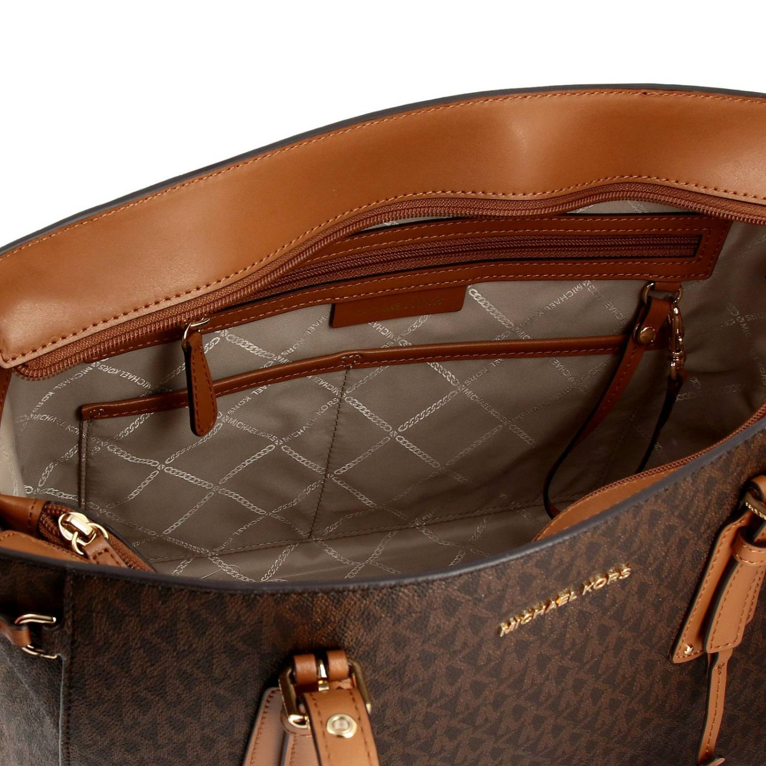 Sac Voyager Michael Michael Kors en cuir avec impression MK all over