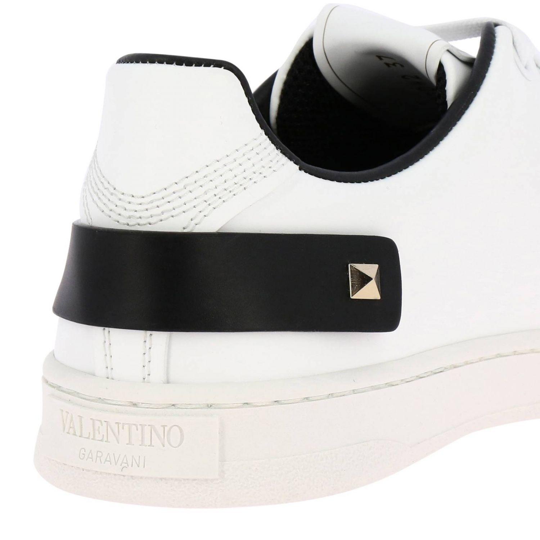 Zapatillas Valentino Garavani Backnet de cuero con logotipo micro perforado blanco 4