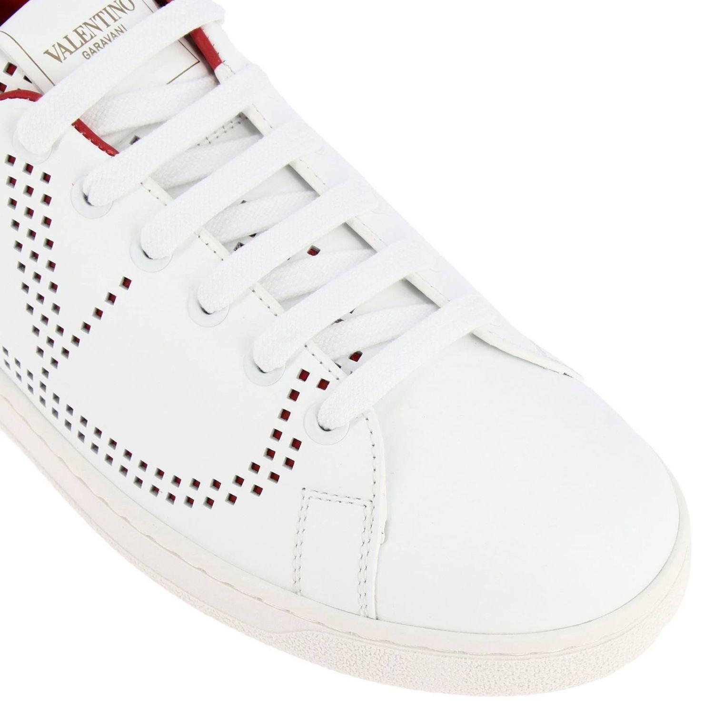 Sneakers Valentino Garavani: Valentino Garavani Backnet Sneakers aus Leder mit mikroperforiertem Logo weiss 1 3
