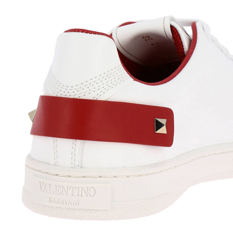Sneakers Valentino Garavani: Valentino Garavani Backnet Sneakers aus Leder mit mikroperforiertem Logo weiss 1 4
