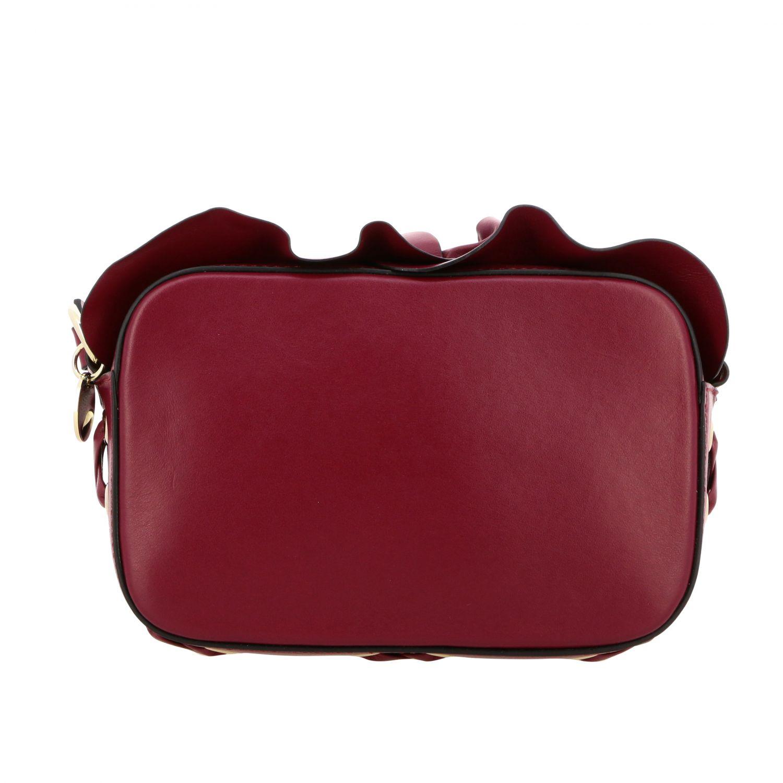 Sac porté épaule femme Red(v) bordeaux 1