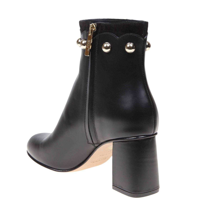 Heeled ankle boots women Red(v) black 4