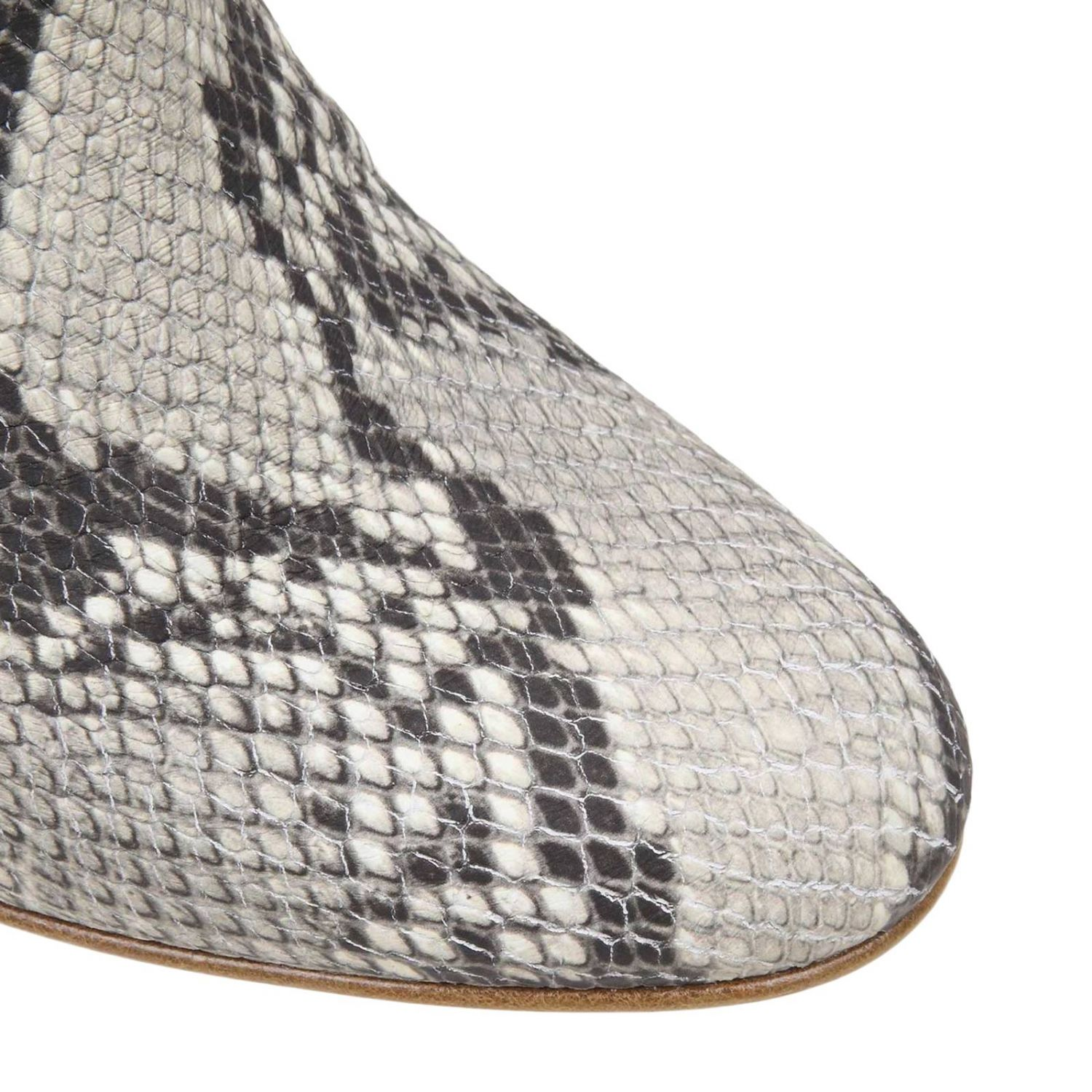 Flat booties women Red(v) multicolor 3