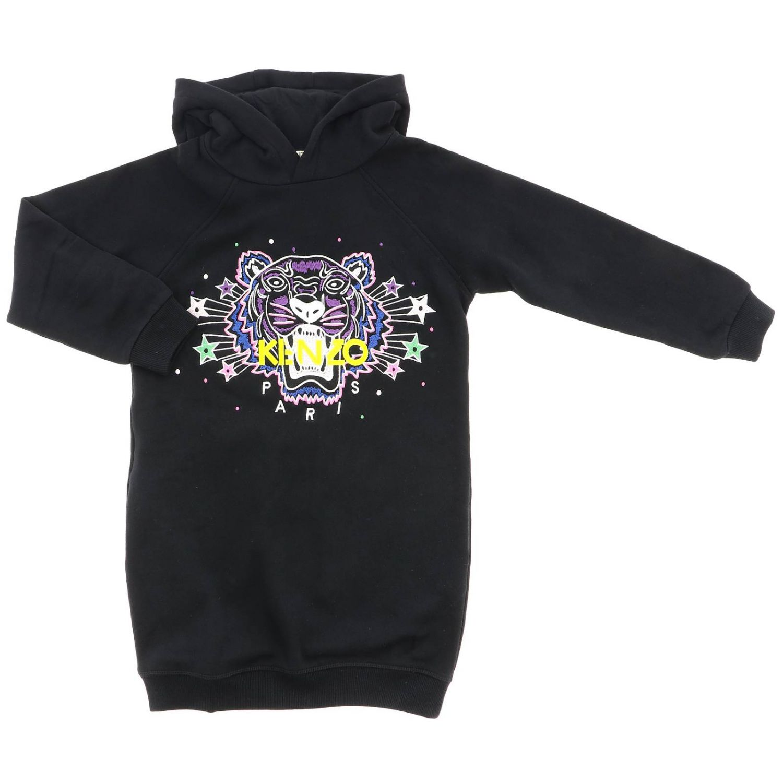 Robe sweat Kenzo Junior avec maxi logo Tiger Kenzo Paris noir 1