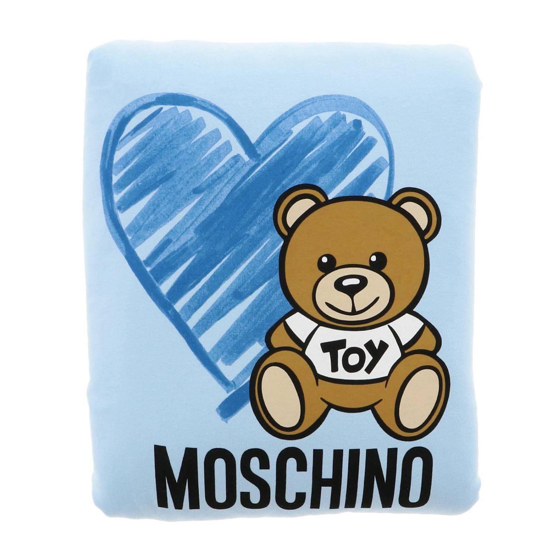Blanket Moschino Baby: Blanket kids Moschino Baby sky blue 1