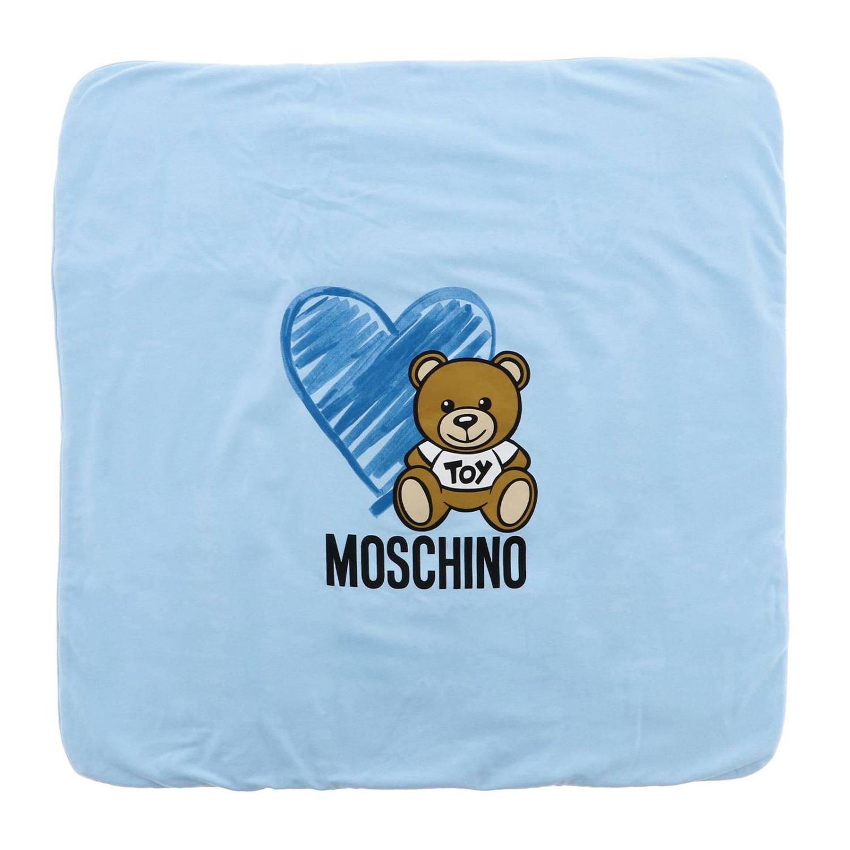 Blanket Moschino Baby: Blanket kids Moschino Baby sky blue 2