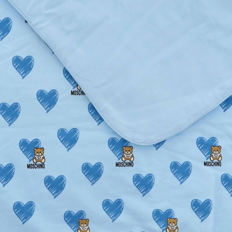 Blanket Moschino Baby: Blanket kids Moschino Baby sky blue 3