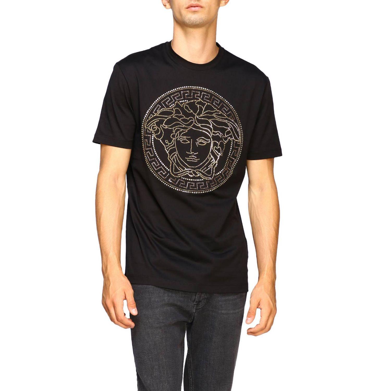 T-shirt a maniche corte con maxi medusa by Versace bianco 1
