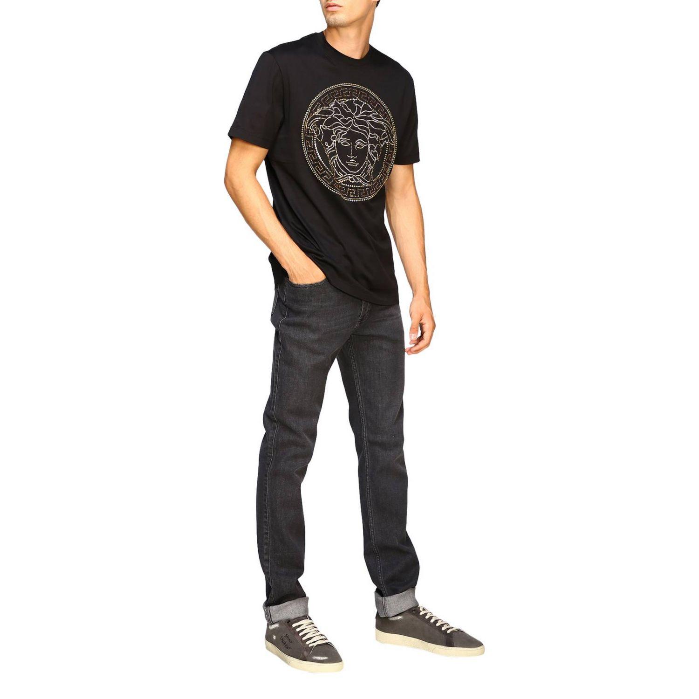T-shirt a maniche corte con maxi medusa by Versace bianco 2