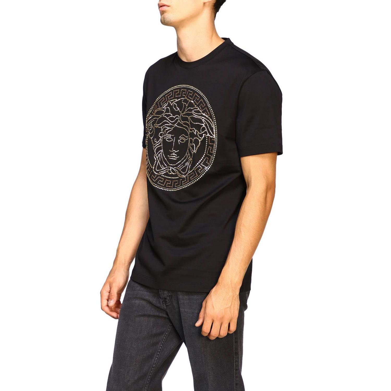 T-shirt a maniche corte con maxi medusa by Versace bianco 4