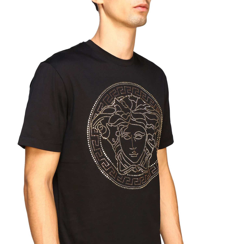 T-shirt a maniche corte con maxi medusa by Versace bianco 5