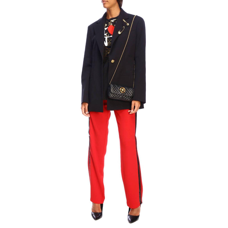 T-shirt Versace à manches courtes avec maxi impression I love New York noir 2