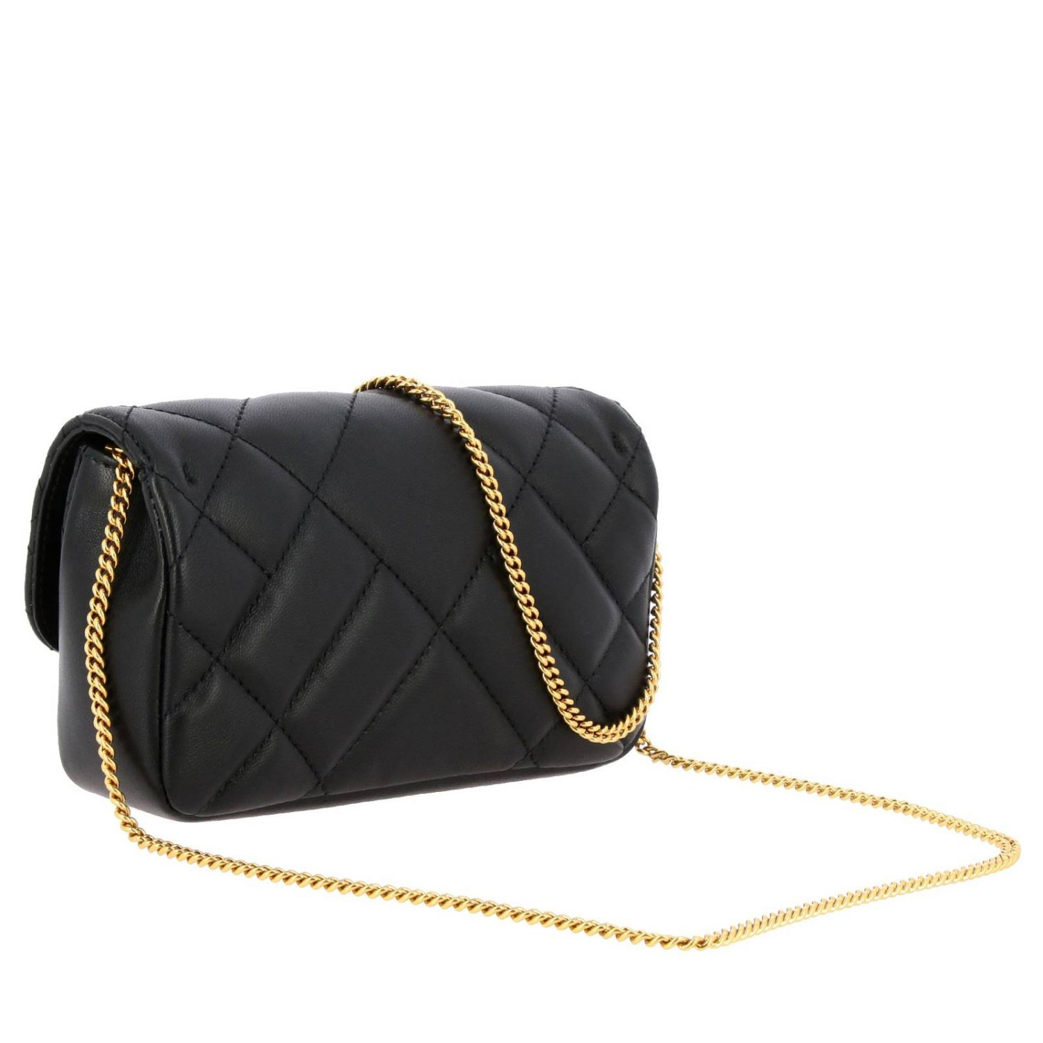 Versace shoulder bag in quilted leather with Medusa head gold 3