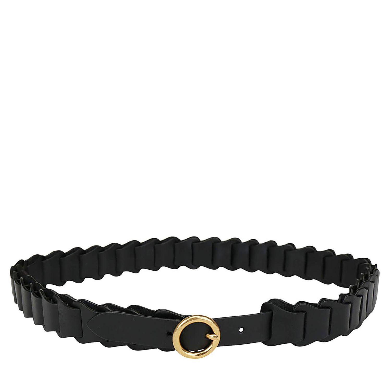 Cintura Bottega Veneta in pelle a maglie modulari nero 2