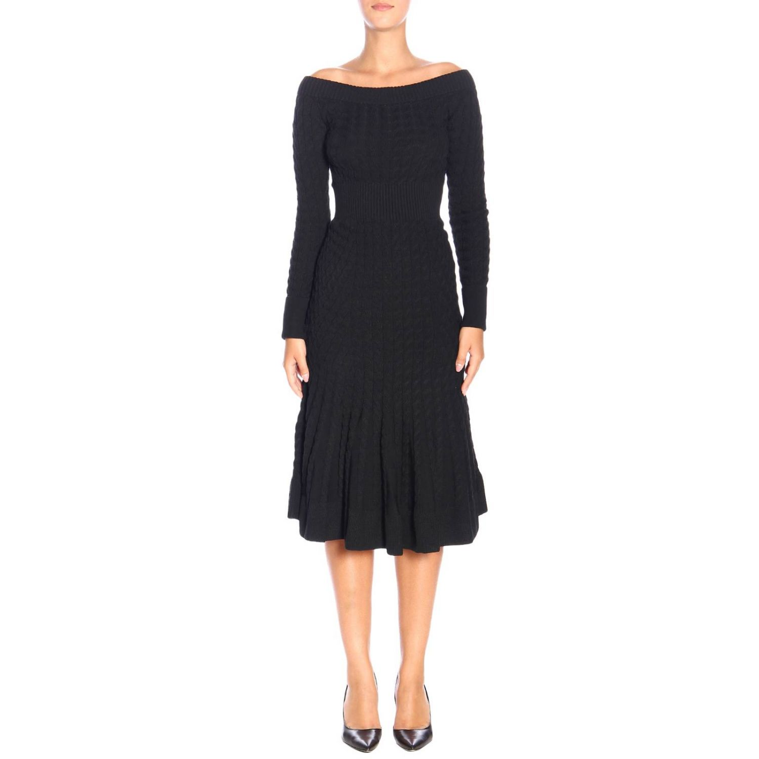 Dress Alexander Mcqueen: Dress women Alexander Mcqueen black 1
