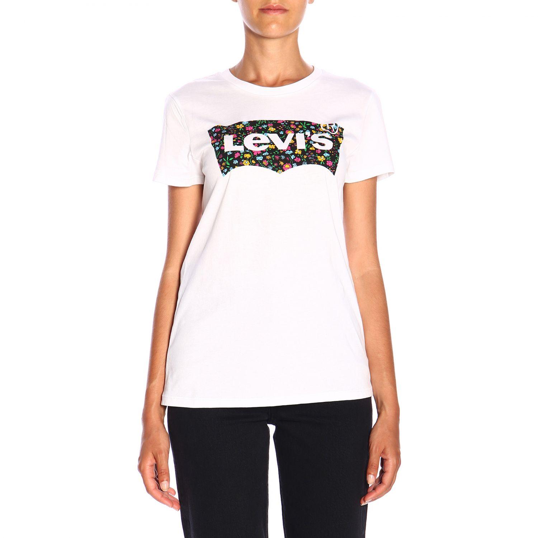 T-shirt Levi's a maniche corte con logo bianco 1