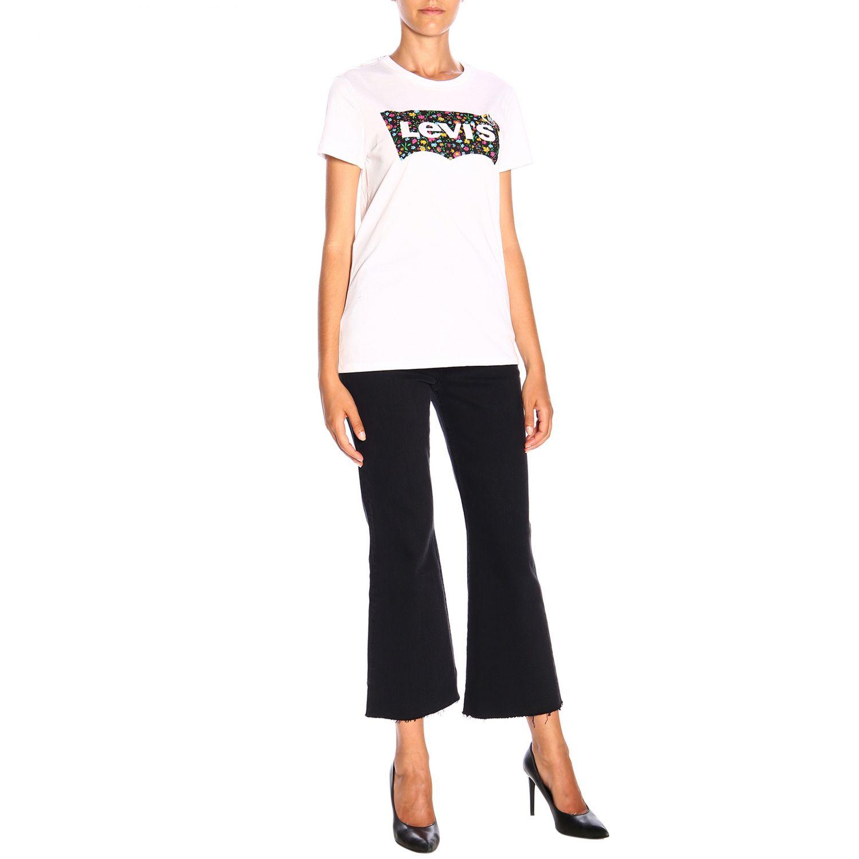 T-shirt Levi's a maniche corte con logo bianco 2