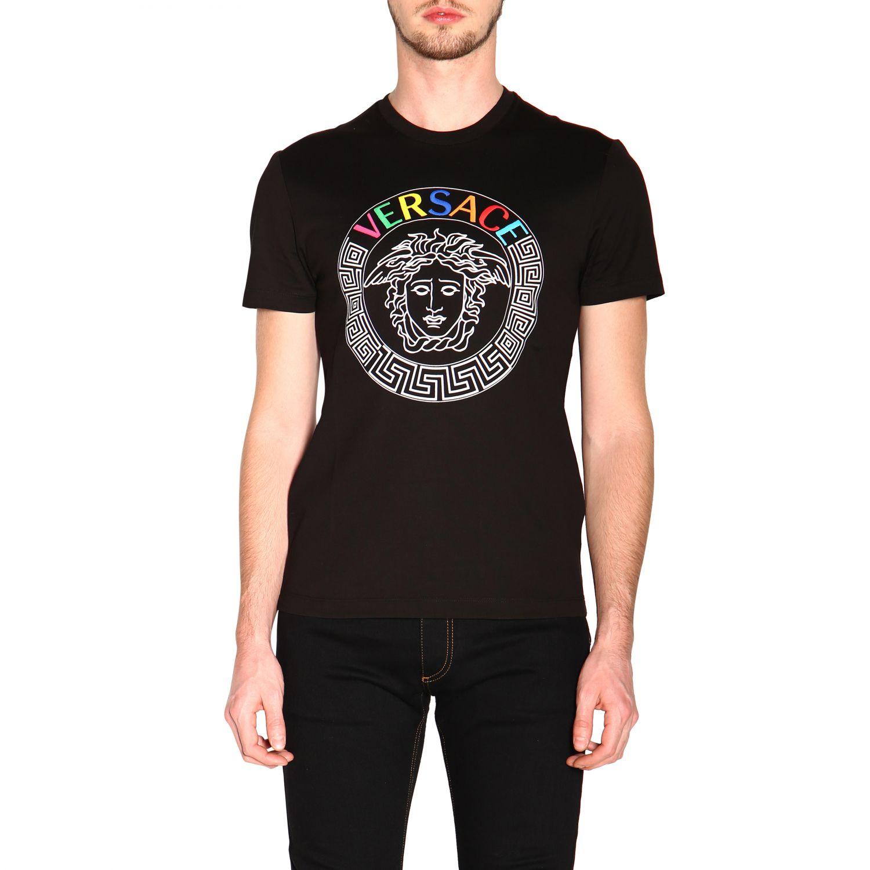 Versace 美杜莎印花短袖T恤 范思哲 黑色 1