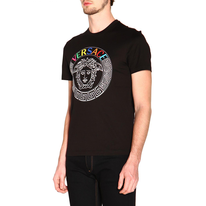 Versace 美杜莎印花短袖T恤 范思哲 黑色 4