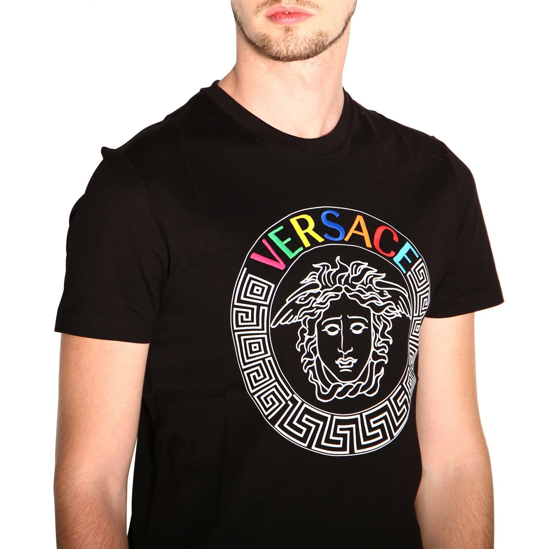 Versace 美杜莎印花短袖T恤 范思哲 黑色 5