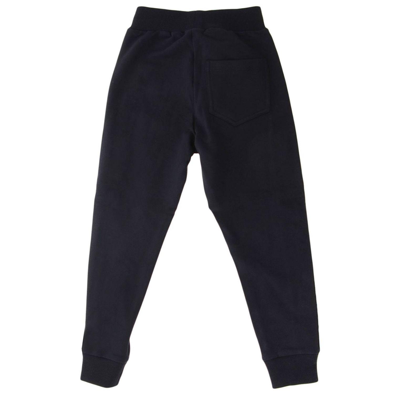 Pantalone Jogging Monnalisa con bande logate blue 2