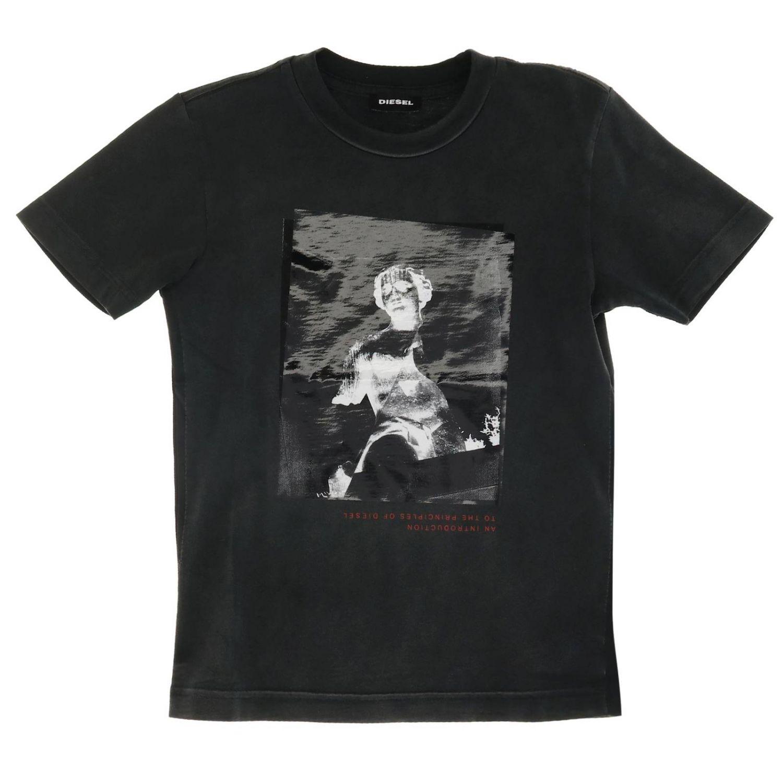 T-shirt Diesel: T-shirt Diesel a maniche corte stampata nero 1