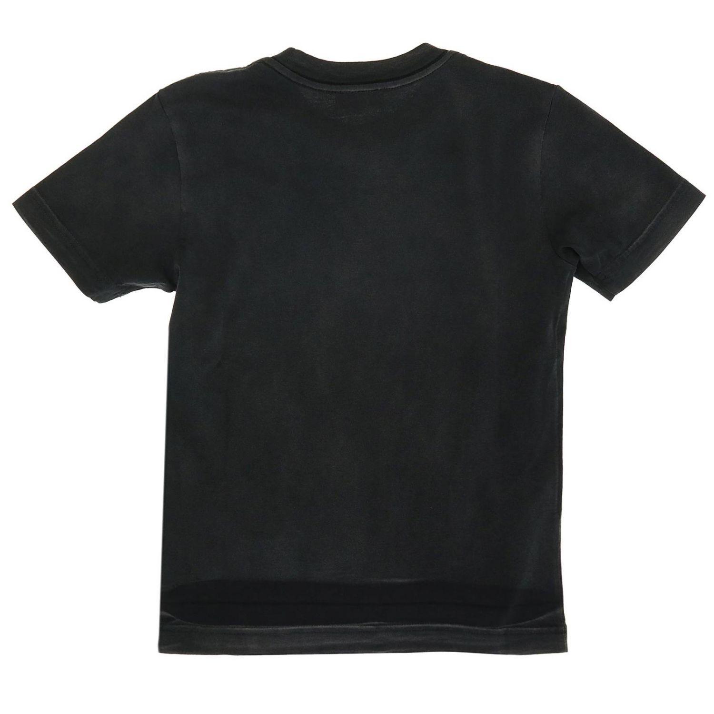 T-shirt Diesel: T-shirt Diesel a maniche corte stampata nero 2