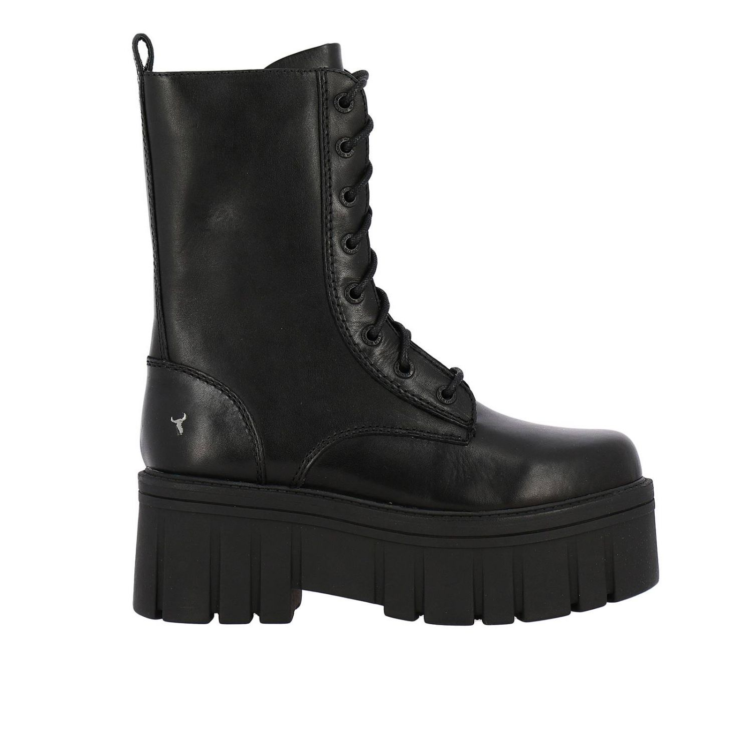 Flat ankle boots women Windsorsmith black 1