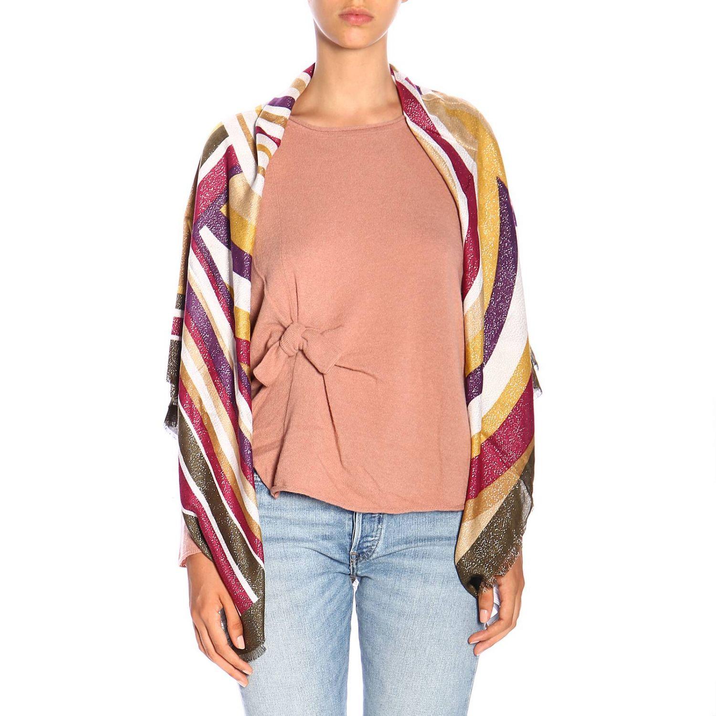 Scarf Twin Set: Twin-set pattern striped scarf gold 1