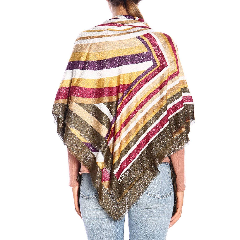 Scarf Twin Set: Twin-set pattern striped scarf gold 2