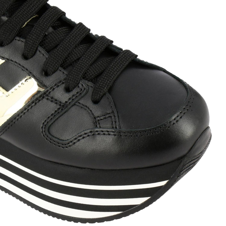 Hogan运动鞋,皮革,金属感H和222鞋底 黑色 3