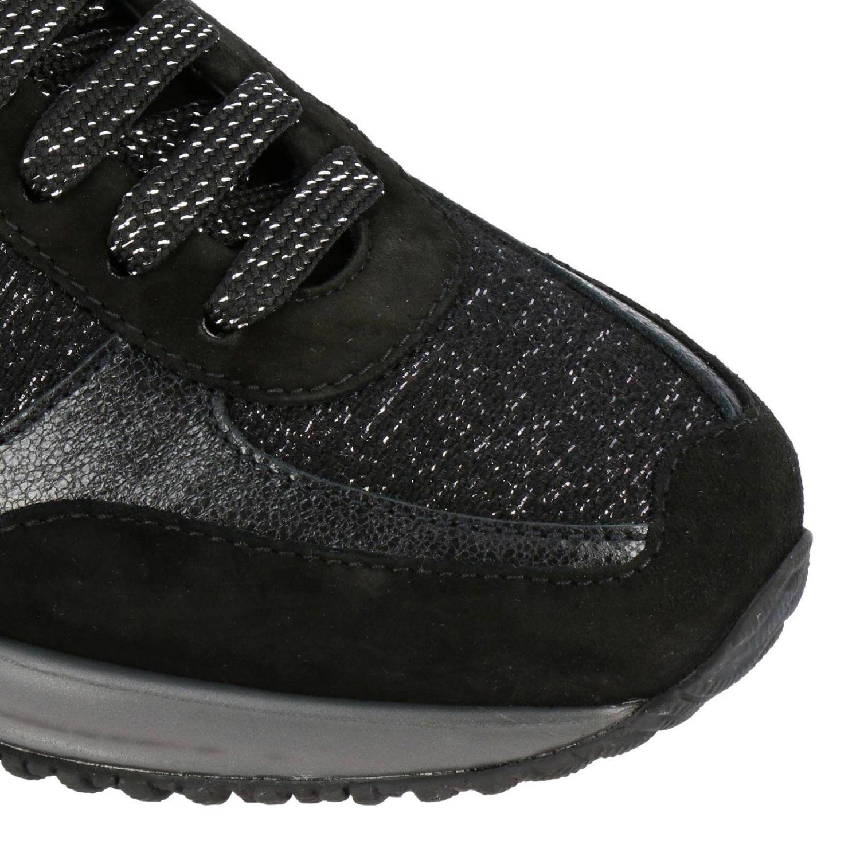 Hogan Interactive运动鞋,采用绒面皮革和卢勒克斯面料制成,配有H装饰 黑色 3