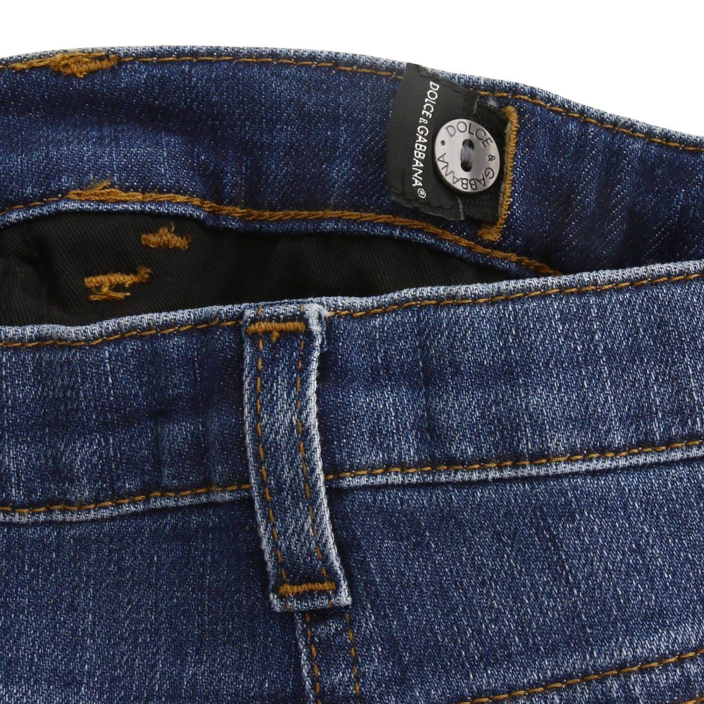 Джинсы Dolce & Gabbana: Джинсы Dolce & Gabbana с эффектом потертости синий 3