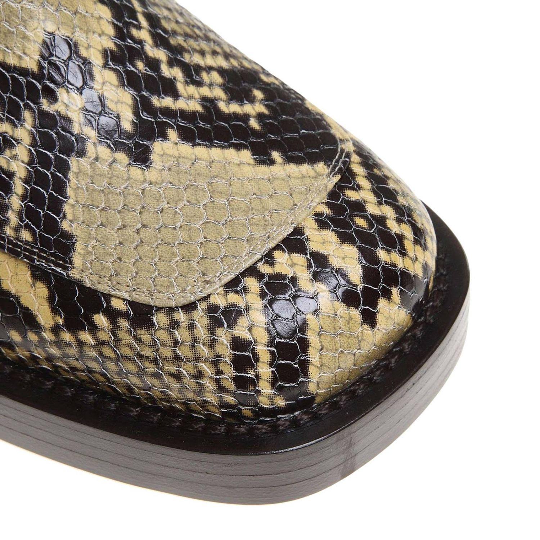 Bottines Marni en cuir impression python avec piercing multicolore 3