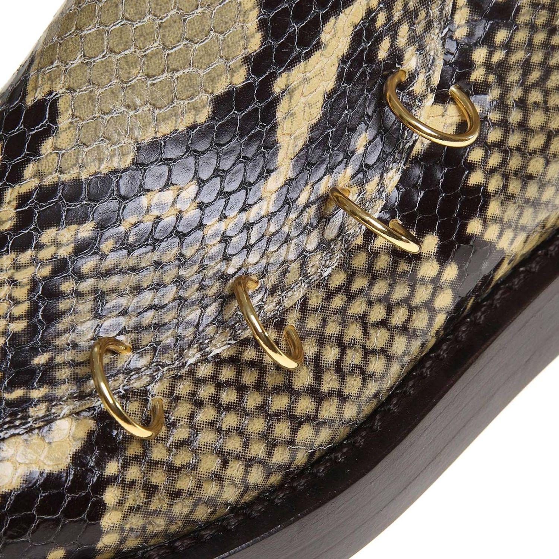 Bottines Marni en cuir impression python avec piercing multicolore 4