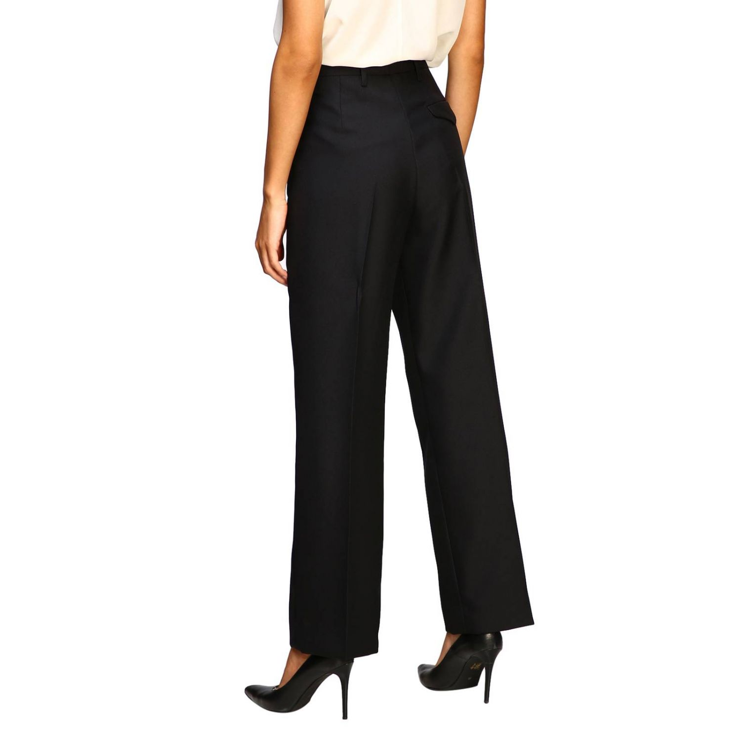 Prada classic high-waisted pants black 3
