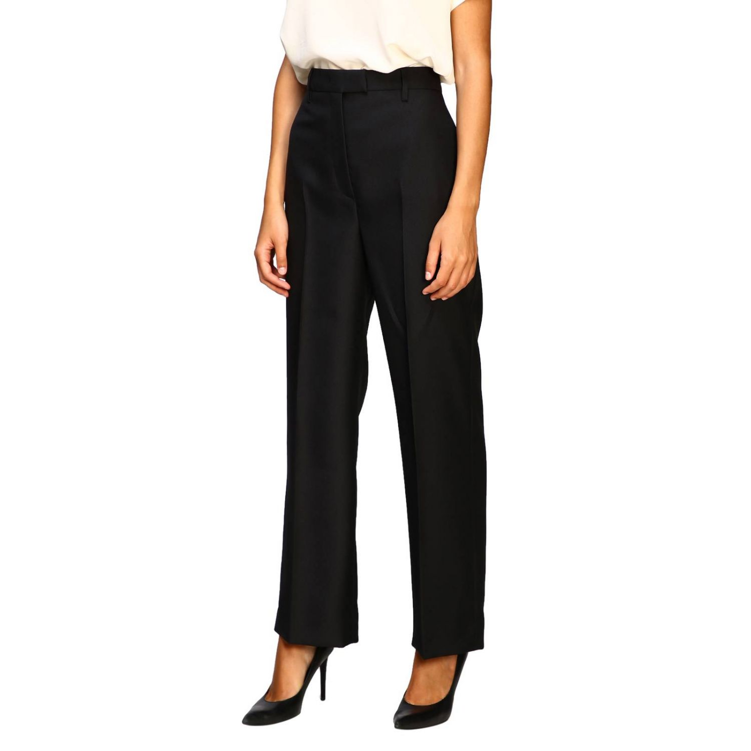 Prada classic high-waisted pants black 4