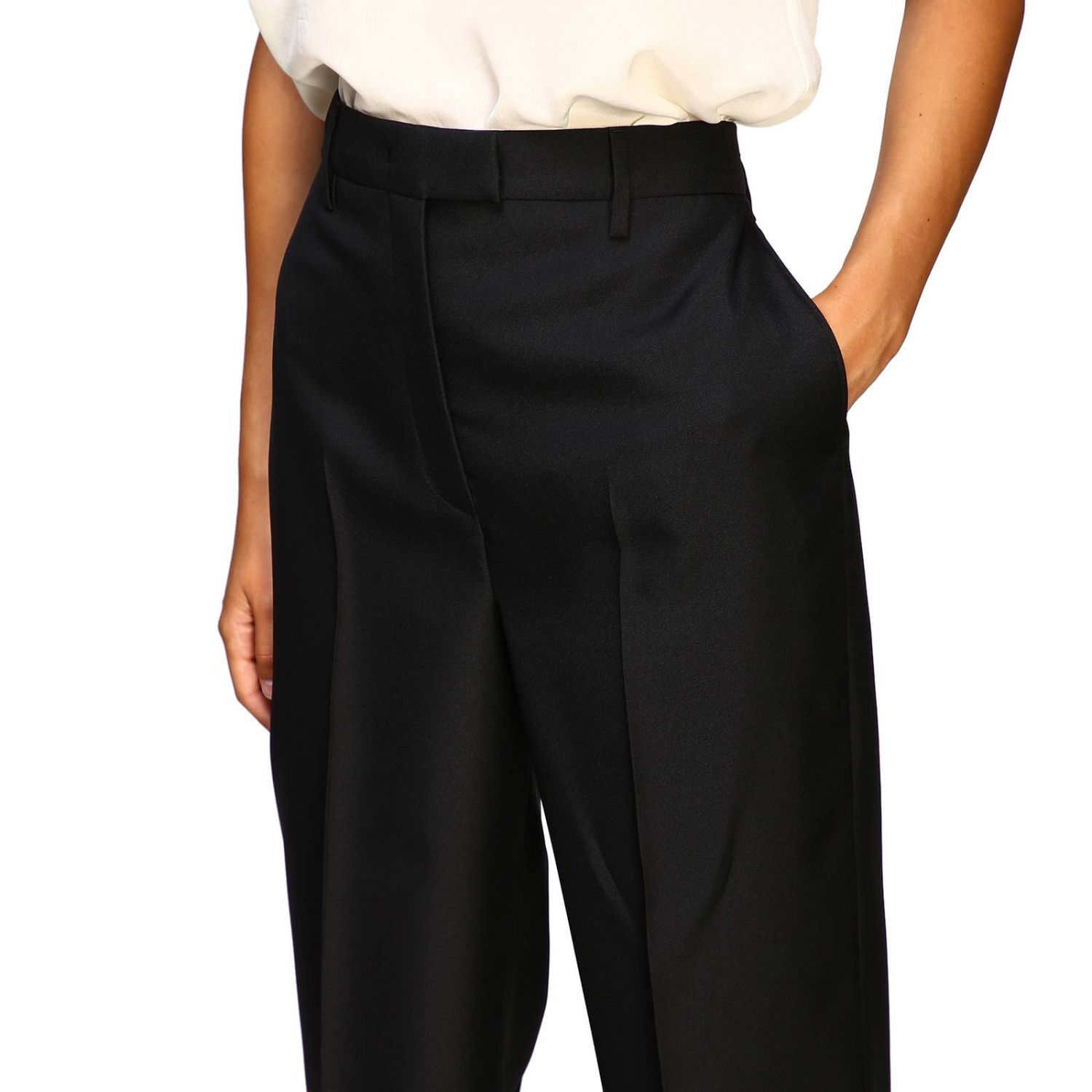 Prada classic high-waisted pants black 5