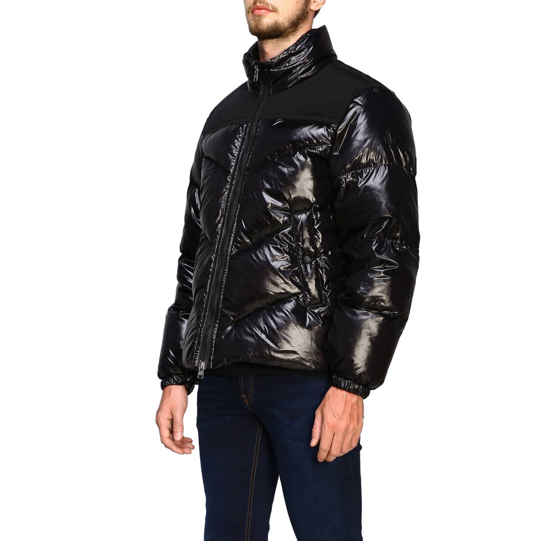 Blazer Woolrich: Piumino Woolrich in nylon lucido nero 4