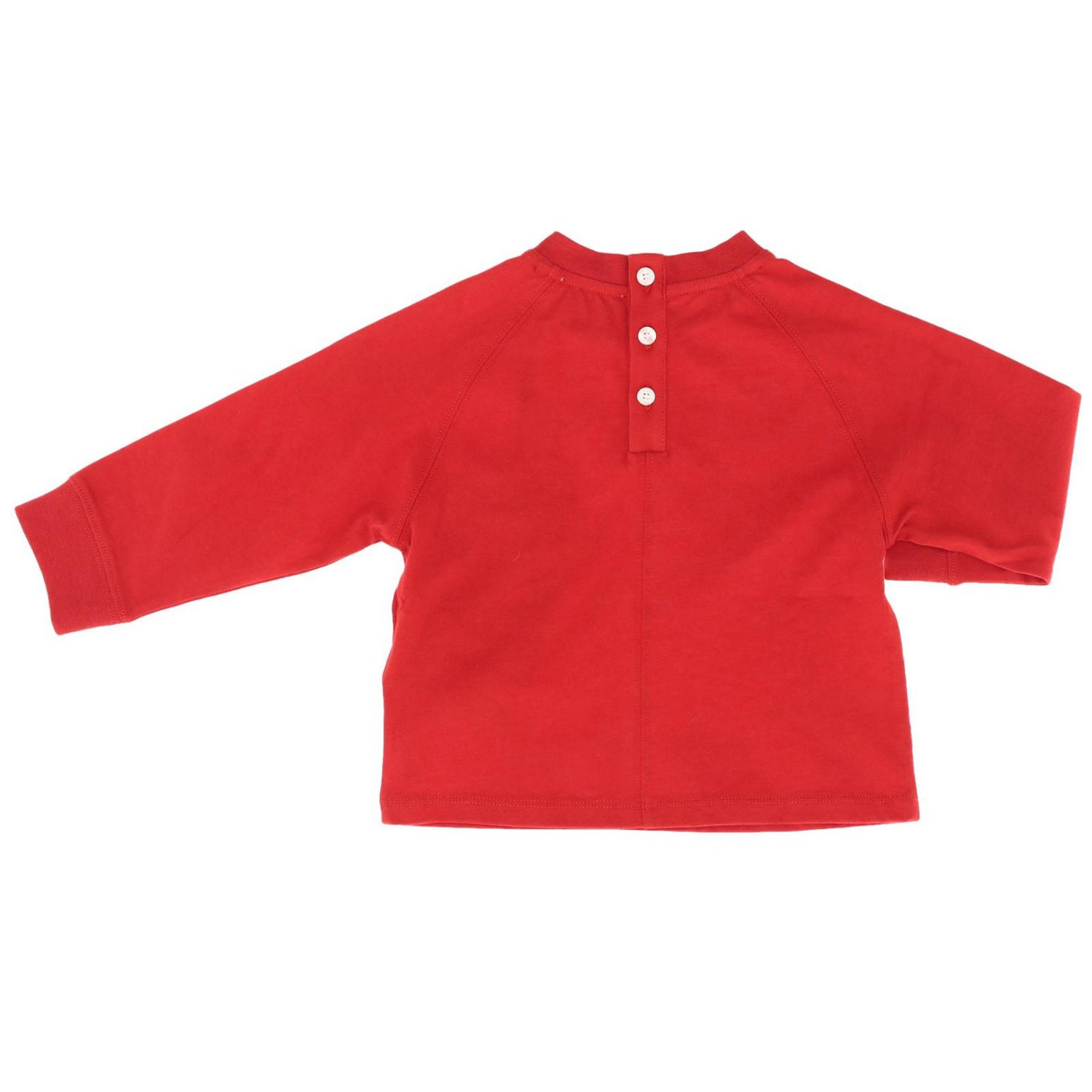 T-shirt Burberry Infant a maniche lunghe con maxi stampa logo rosso 2