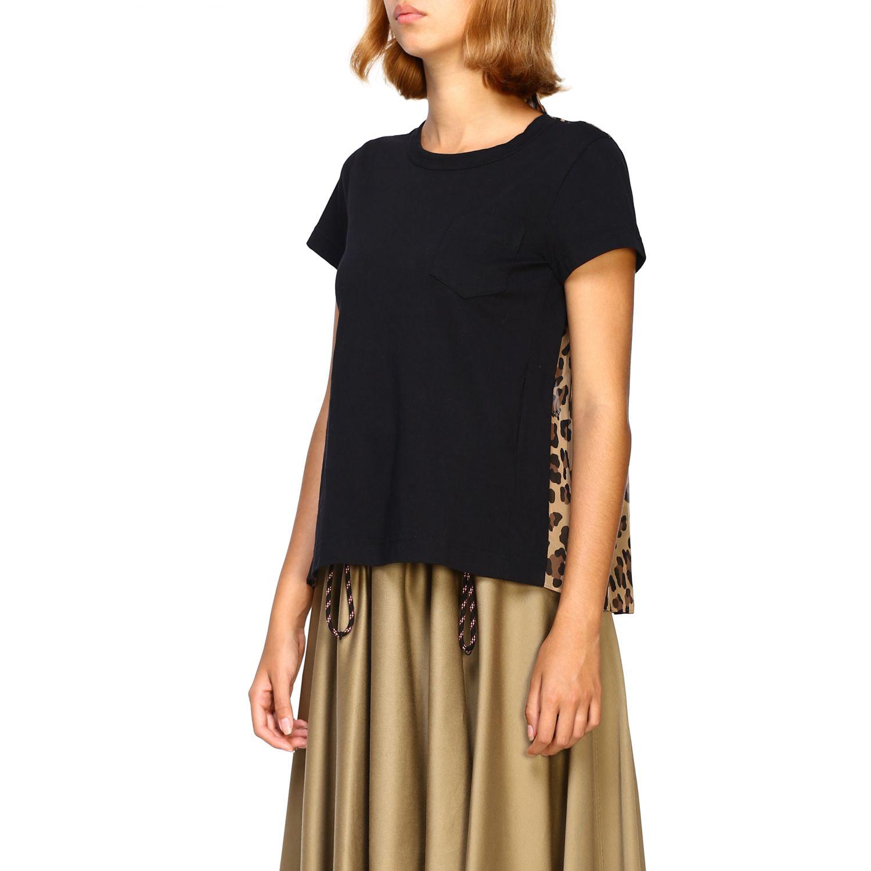 T-shirt femme Sacai beige 4
