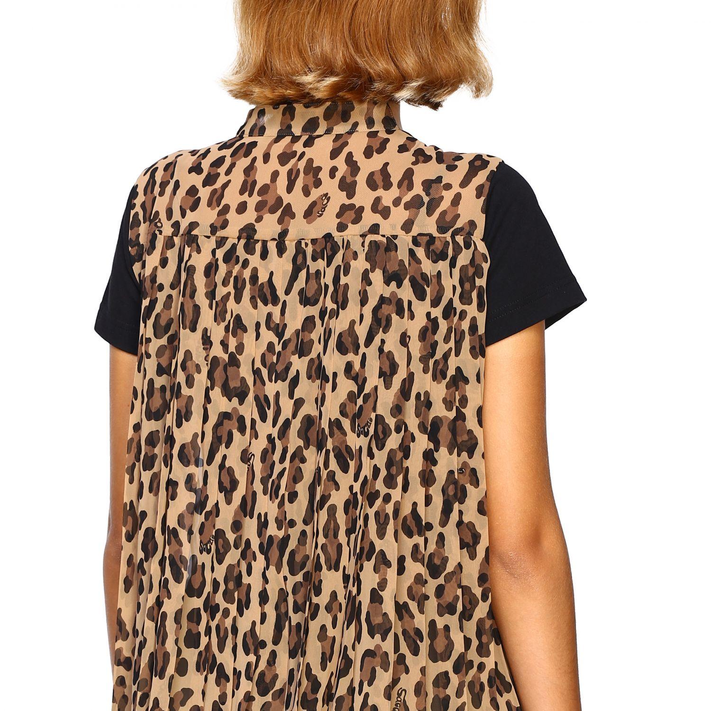 T-shirt femme Sacai beige 5
