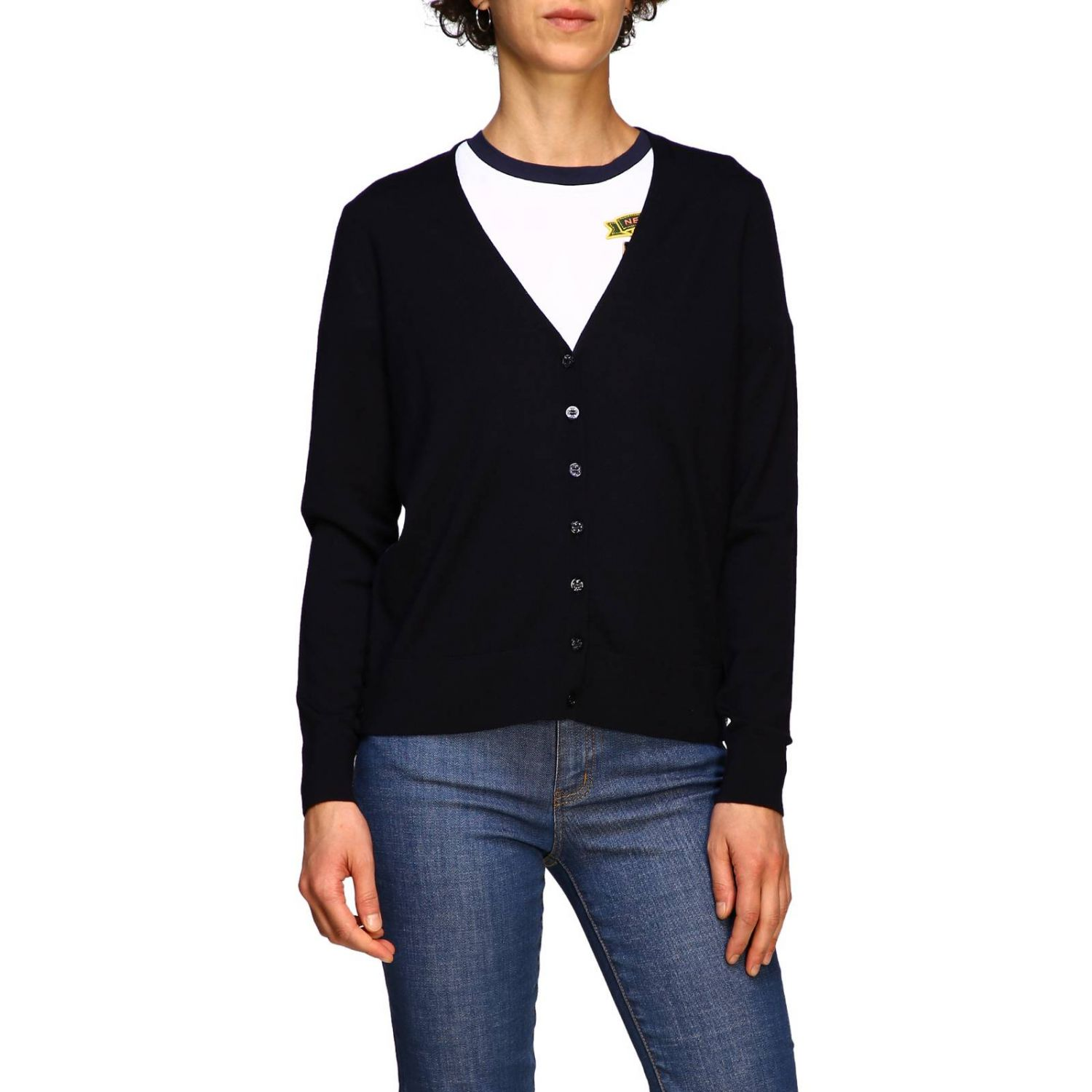 Cardigan donna Tory Burch blue 1