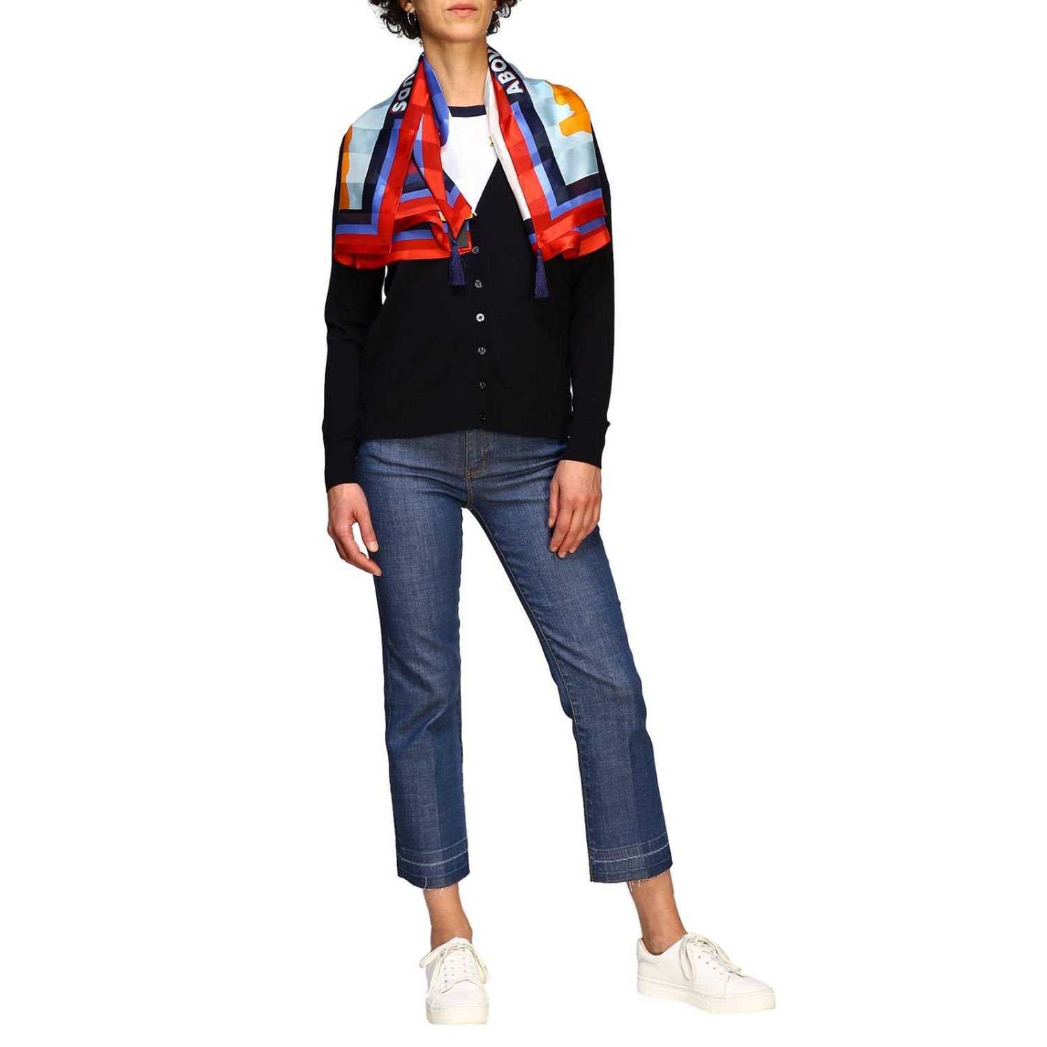 Cardigan donna Tory Burch blue 2
