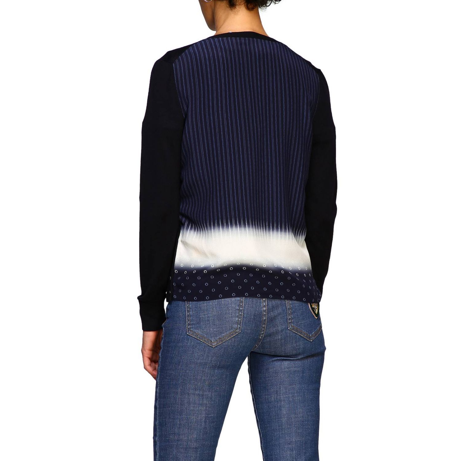 Cardigan donna Tory Burch blue 3
